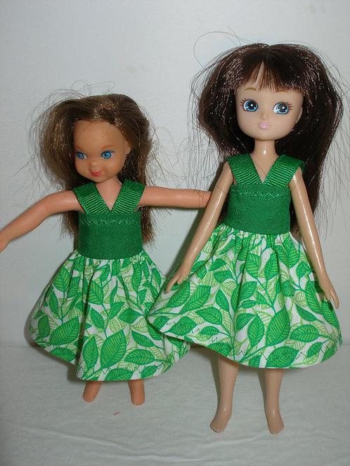 Lottie/Tutti - Green Leaves Dress