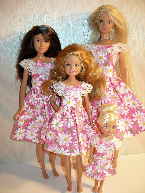 Pink and White Daisy Sister Set