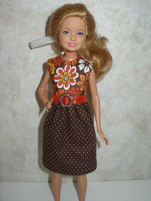 Stacie/Bratz Brown Floral Dress