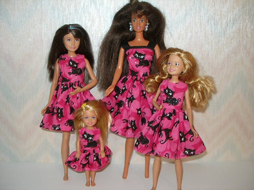 Pink/Black Cat Sister Set