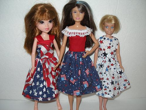 Skipper Patriotic Print Dress