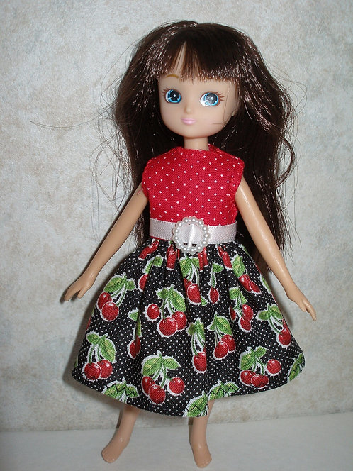 Lottie - Black and Red Cherry Dress