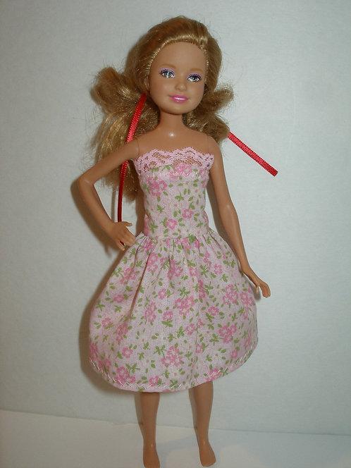 Stacie/Bratz Pink Floral Strapless Dress