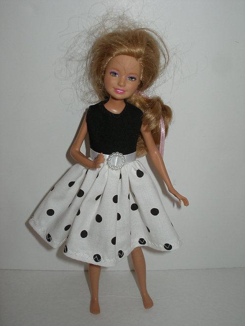 Stacie/Bratz  White and Black Dot Dress