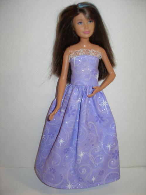 Skipper Purple Glittery Gown
