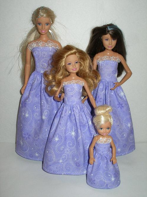 Purple Glittery Gowns Sister Set