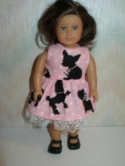 AG Mini - Pink and Black Puppy Dress