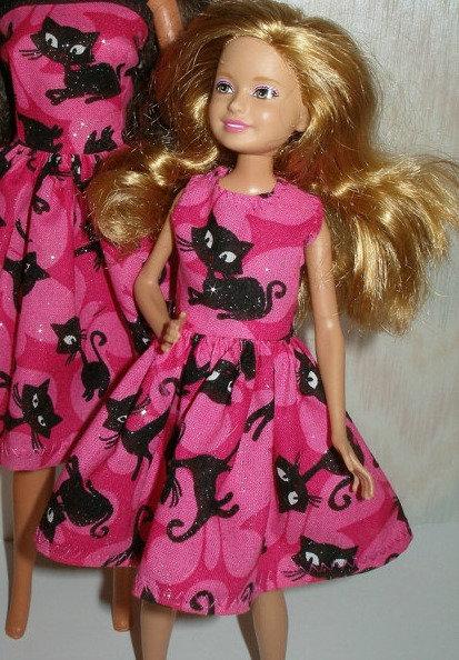 Stacie/Bratz Pink and Black Cat Dress