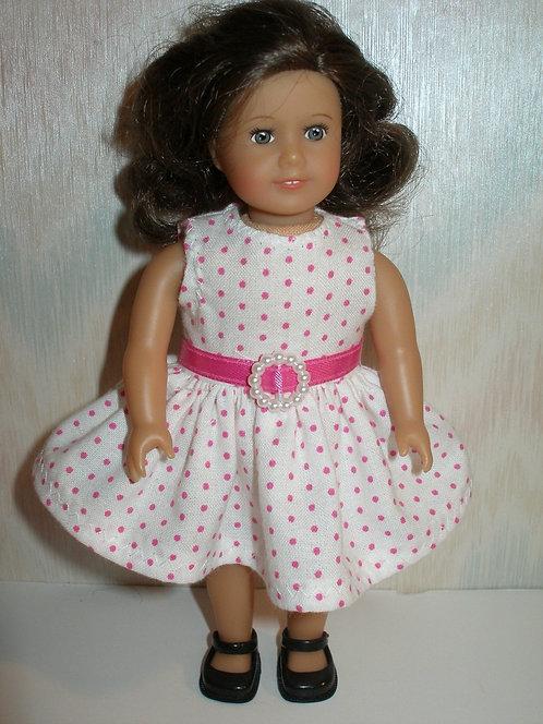 AG Mini - White and Pink Dot Dress