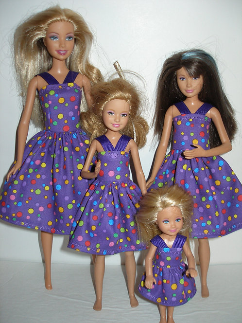 Purple w/Dots Dresses - Sister Set
