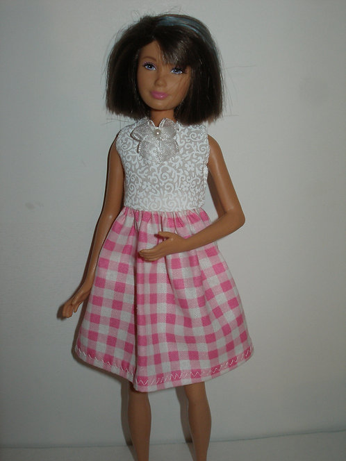 Skipper - Pink and White Check Dress