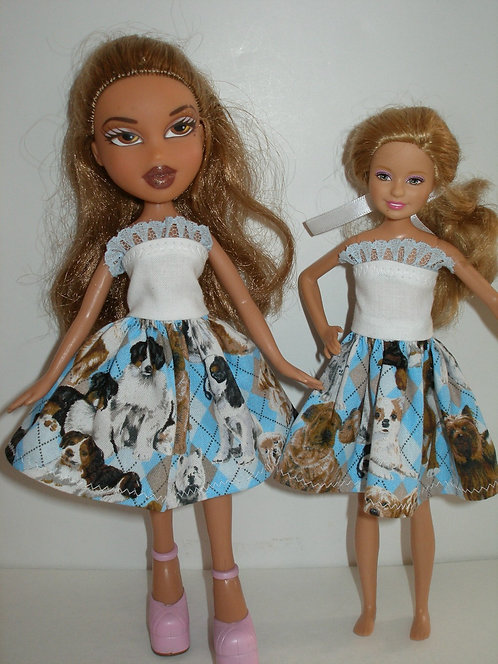 Stacie/Bratz Blue Dog Dress
