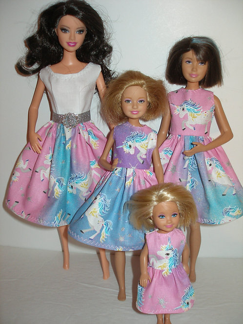 Unicorn Dresses - Sister Set