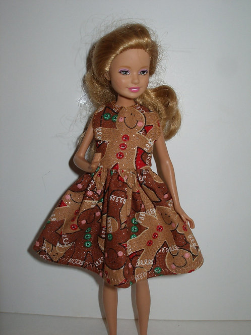 Stacie Glittery Brown Gingerbread Dress