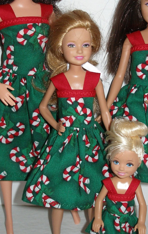 Stacie Holiday Candy Canes Dress