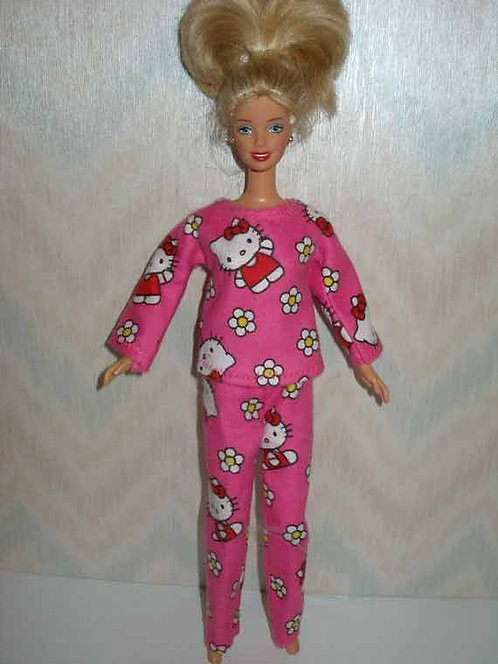 Hello Kitty Print PJ's for Barbie