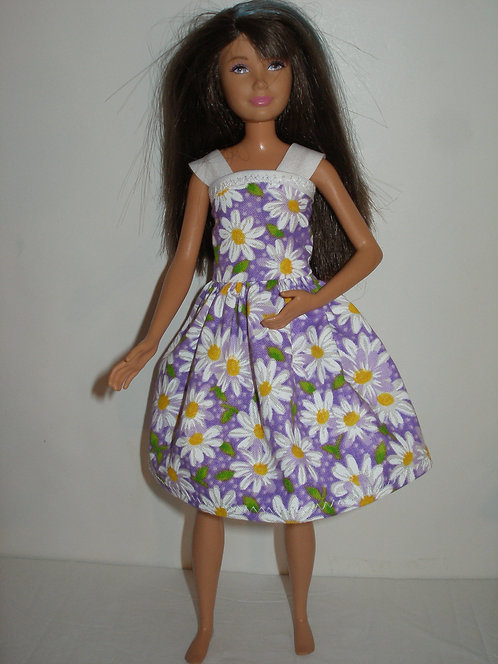Skipper - Purple and White Daisy Dress