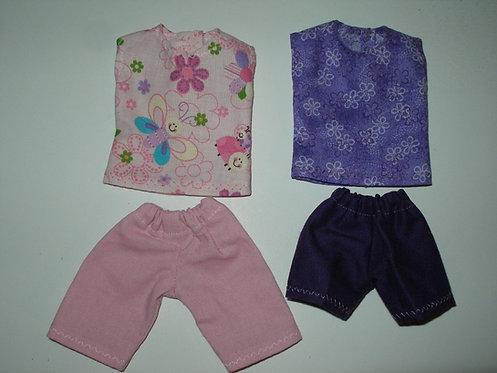 4 Piece Short Set - Pink/Purple
