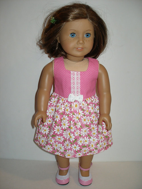 AG Pink and White Daisy Dress
