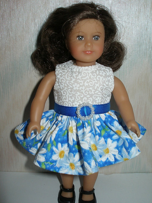 AG Mini - Blue and white Daisy Dress