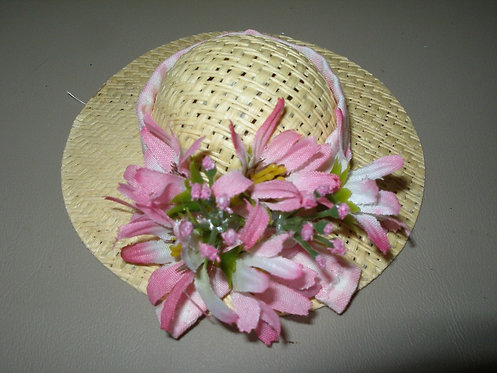 Barbie Hat Fabric and Flowers