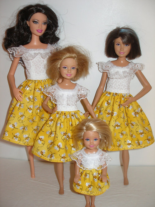 White and Yellow Bee Print Dresses - Sister Set