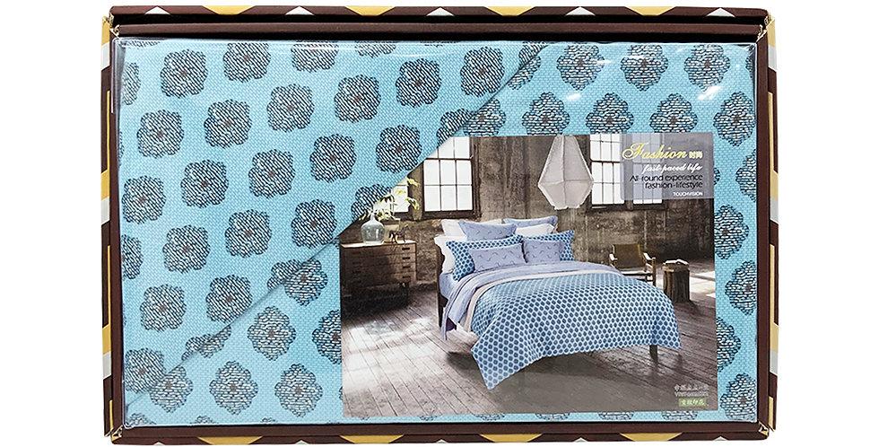 Rankoussi Sky Blue Ornament - Single Bed Set