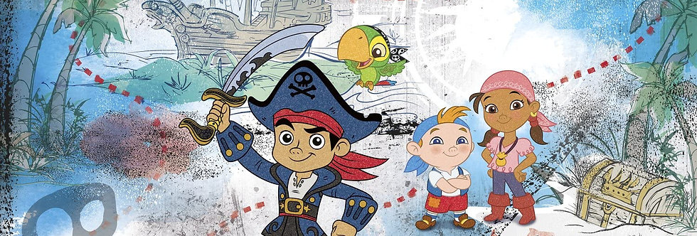 Captain Jake and The Never Land Pirates - Kids Mural Wallpaper