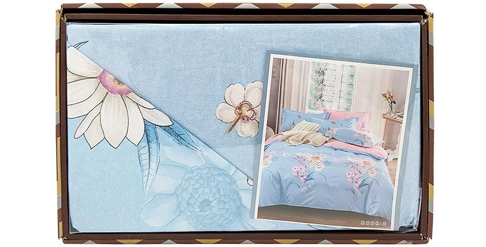 Rankoussi Columbian Blue Flower - Single Bed Set