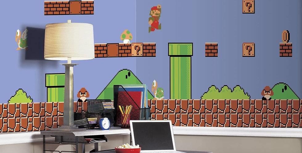 Mario Video Game - Kids Mural Wallpaper