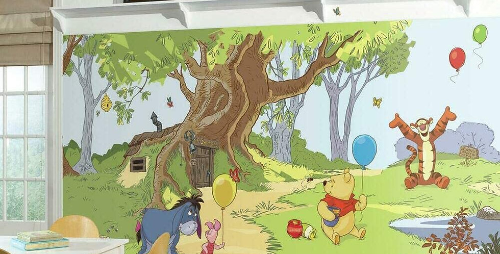Winnie the Pooh and Friends - Kids Mural Wallpaper