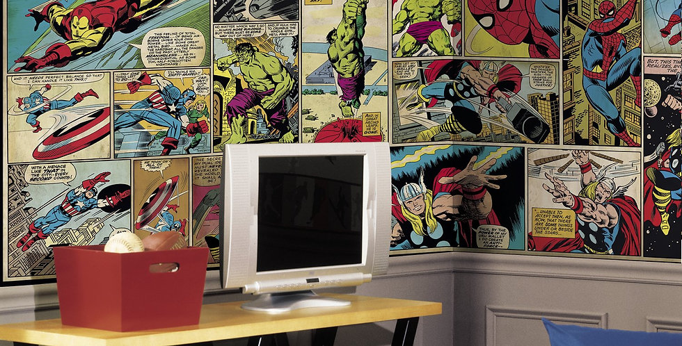 Marvel Comics - Kids Mural Wallpaper