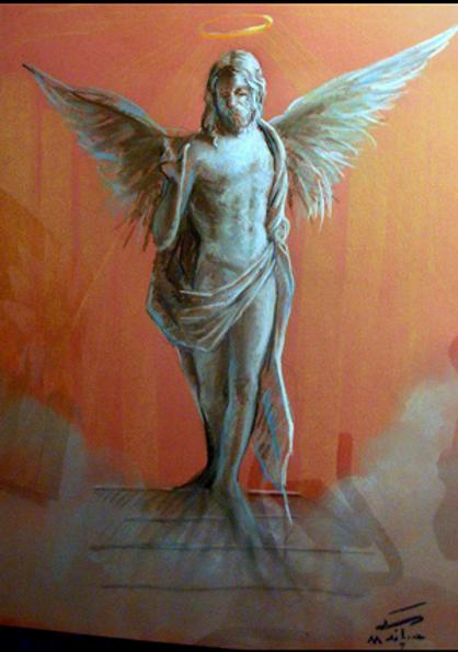 Chalk Pastel on Paper by Houman Pazouki.