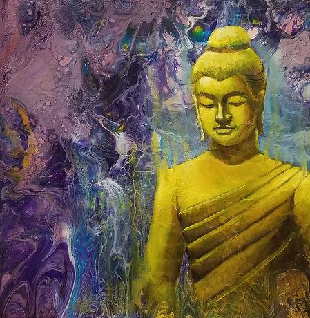Buddha's painting by Houman Pazouki