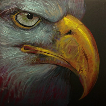 eagle(Giclee print on Canvas)