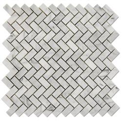Bianco-Carrara-Mosaic-Herringbone