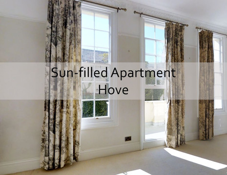 Sun-filled Apartment on prestigious Hove square