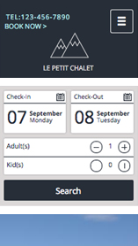 Campings et Auberges website templates –  Hôtel Chalet