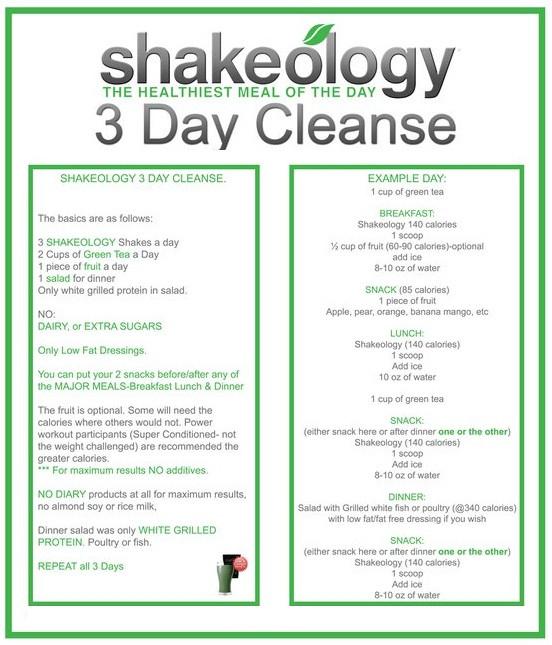 shakeology cleanse