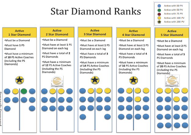 star diamond beachbodycoach levels