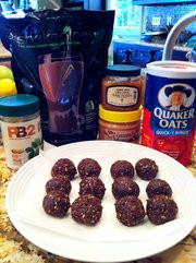 No Bake Chocolate Peanut Butter Protein Balls