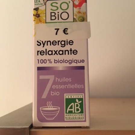 Synergie d'huiles essentielles relaxante
