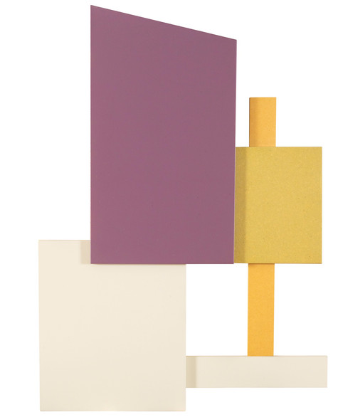 2 tinten in compositie • compositie met gelakte MDF-panelen