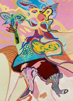 Rêves d'imaginations • Acryl op papier