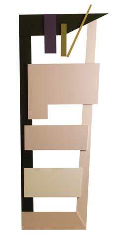 Driedimensionele totem • Compositie met gelakte MDF-panelen