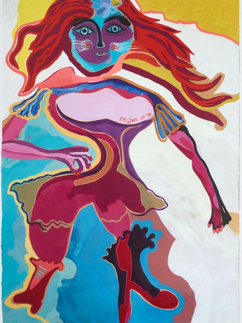 Malaga dance • Acryl op papier