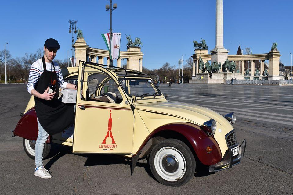 2cv livraison de vin français à Budapest