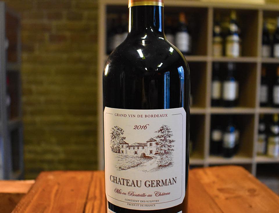Château German 2016, Appellation Bordeaux Contrôlée
