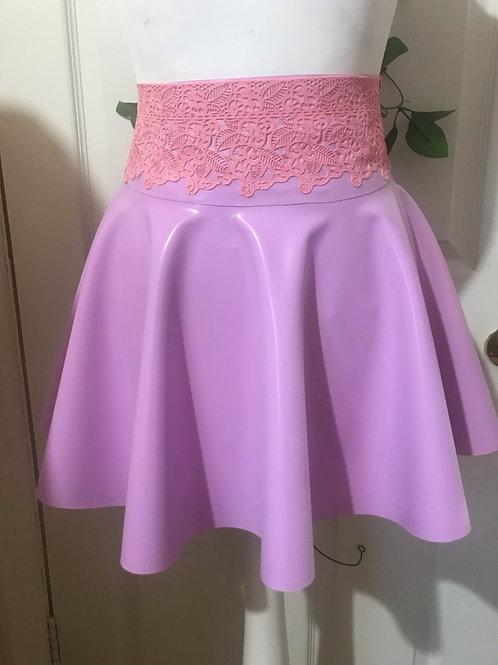 'Dentelle skirt' : Lace waist skater Skirt