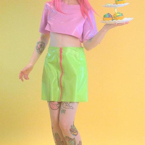 Macaron zip-up Skirt